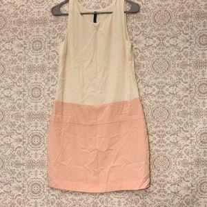 W118 By Walter Baker Pink & Cream Colorblock Dress